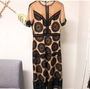 Nightcap Pinwheel Embroidered Maxi Dress